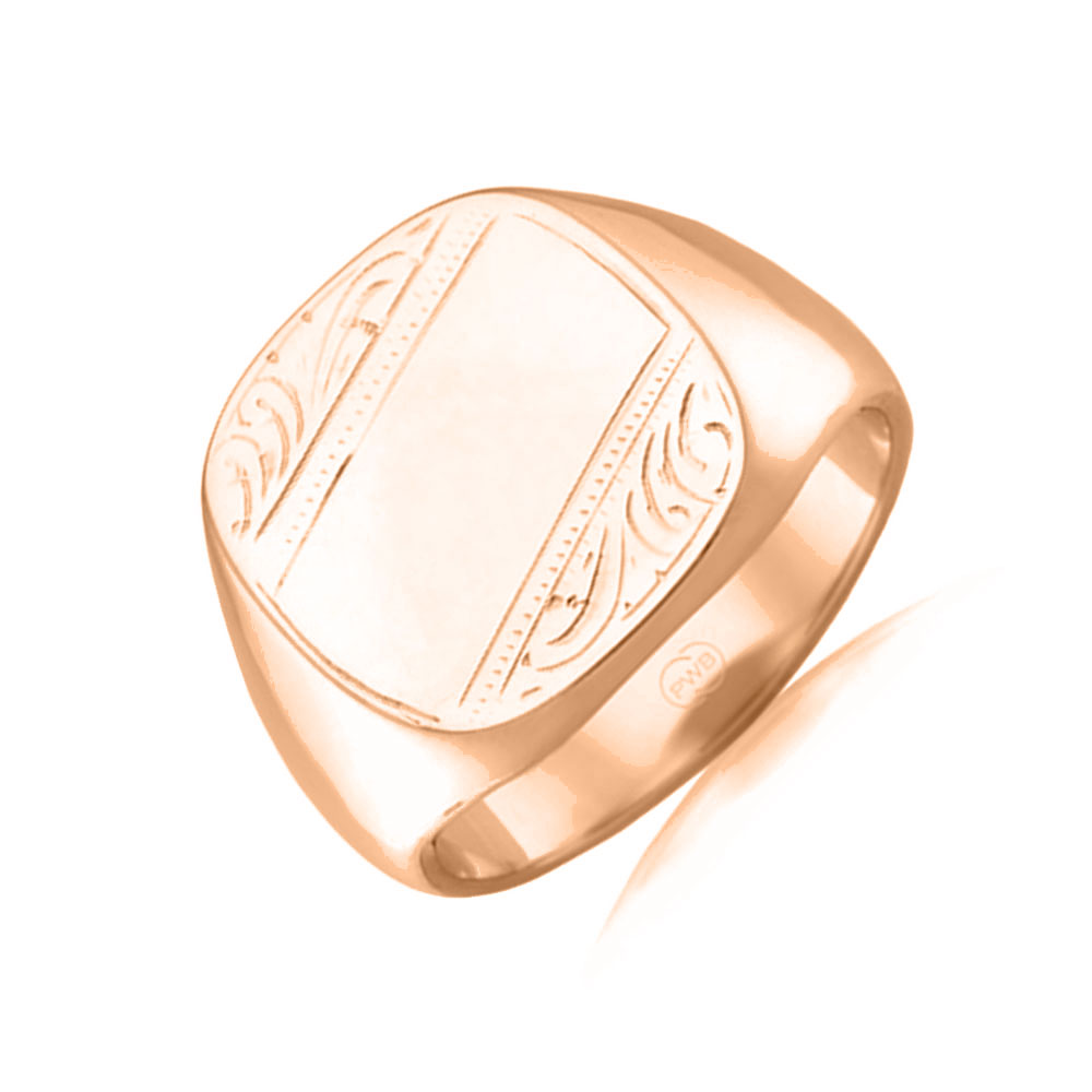 Hand Engraved signet ring J1799