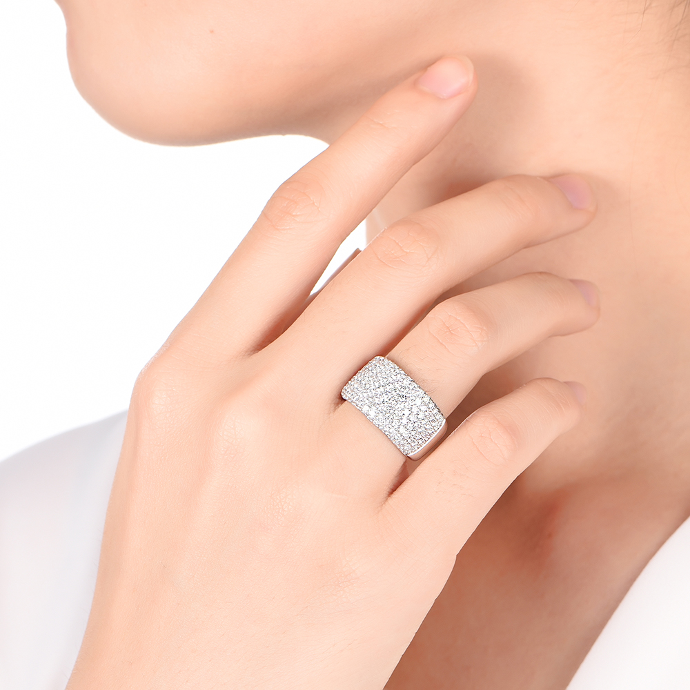 Pave Perfection diamond ring