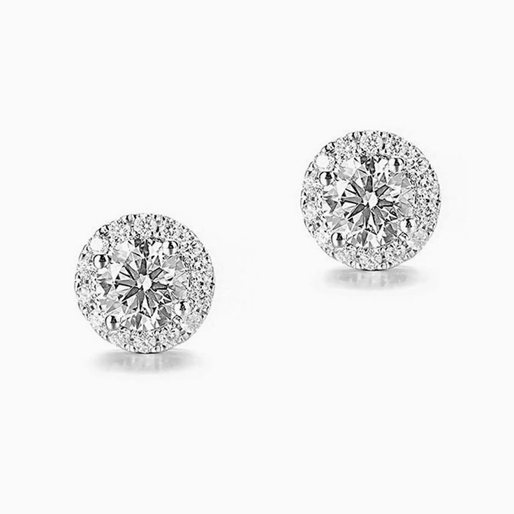 Diamond Halo Studs