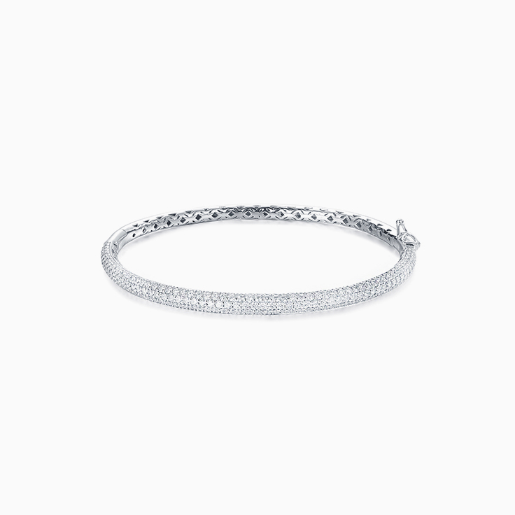 Three Row Pave Set Bangle