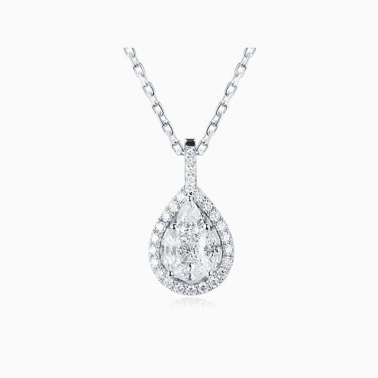 Pear Cluster Diamond Pendant