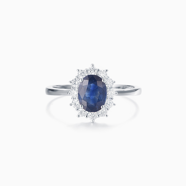 Oval Blue Saphhire Ring