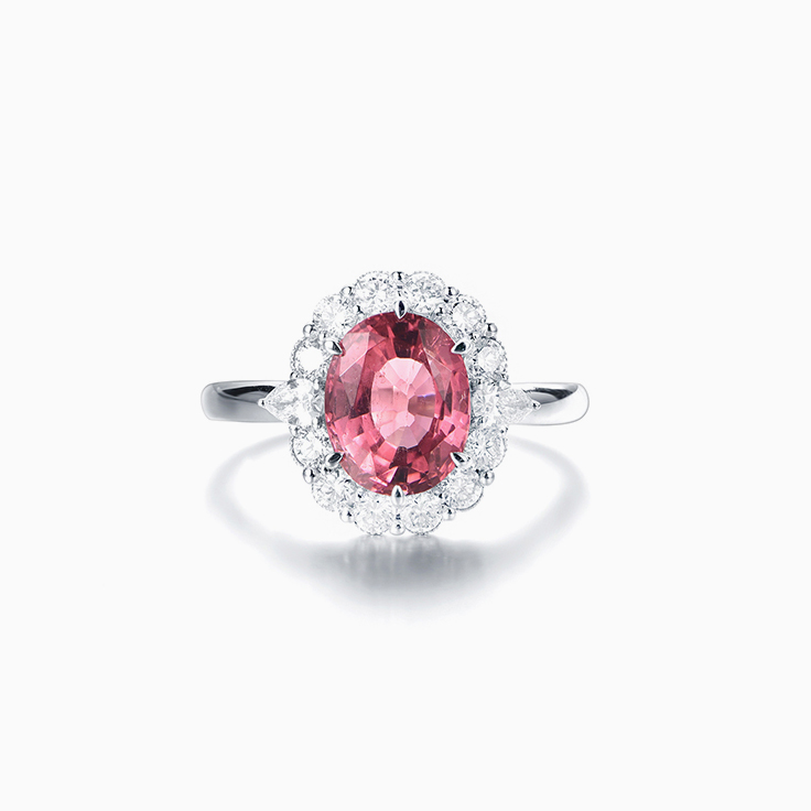 Oval Pink Tourmaline Dress ring