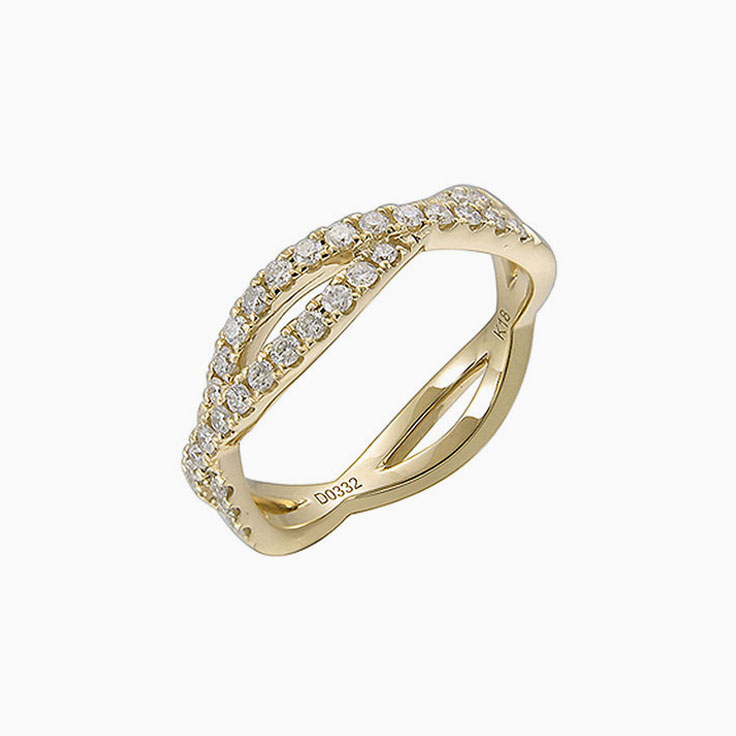 Diamond crossover stack ring 3144