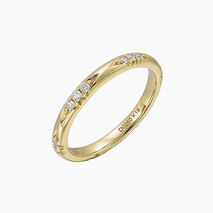 Carved ladies wedding ring 3260