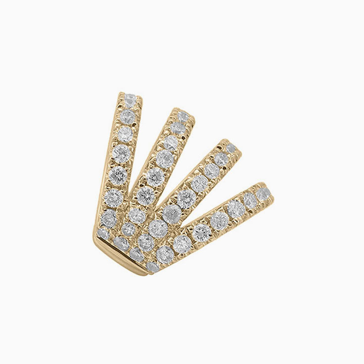 Round diamond cuff earring 940