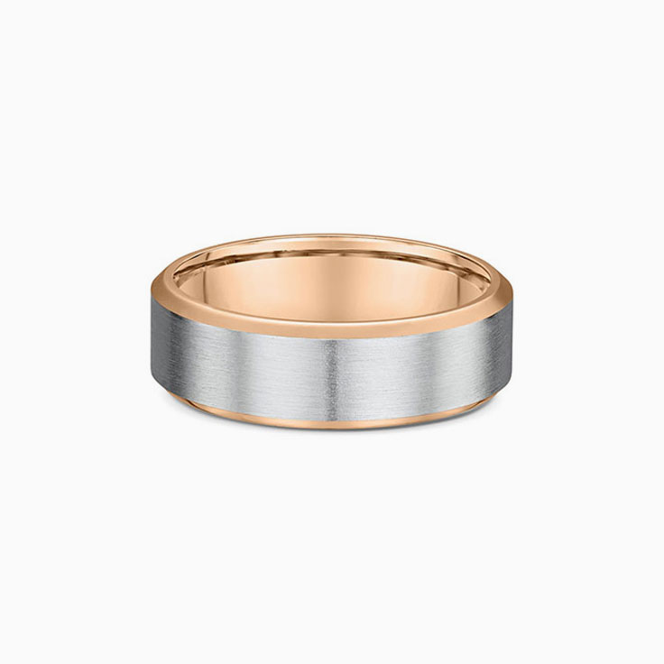 Two Tone Mens wedding band 857A04