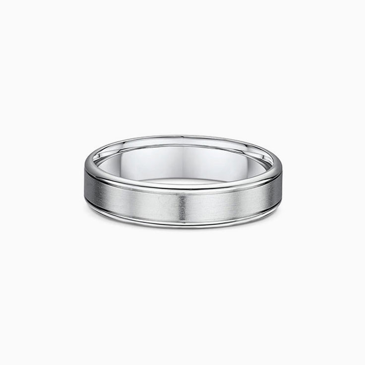 Matt and polished wedding ring 4992