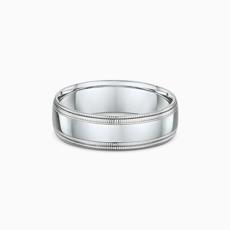 Double Miligrain edges wedding ring
