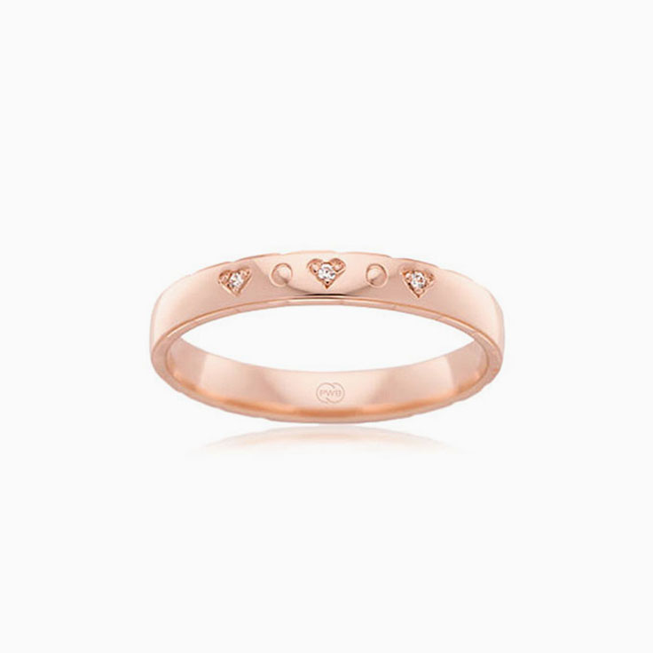 Heart pattern diamond ring HR1473