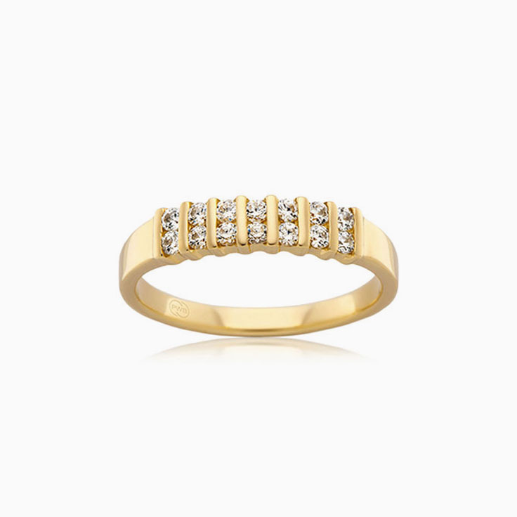 Partial Bezel Diamond Ring J1621