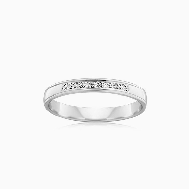 Pave set diamond wedder HR3594