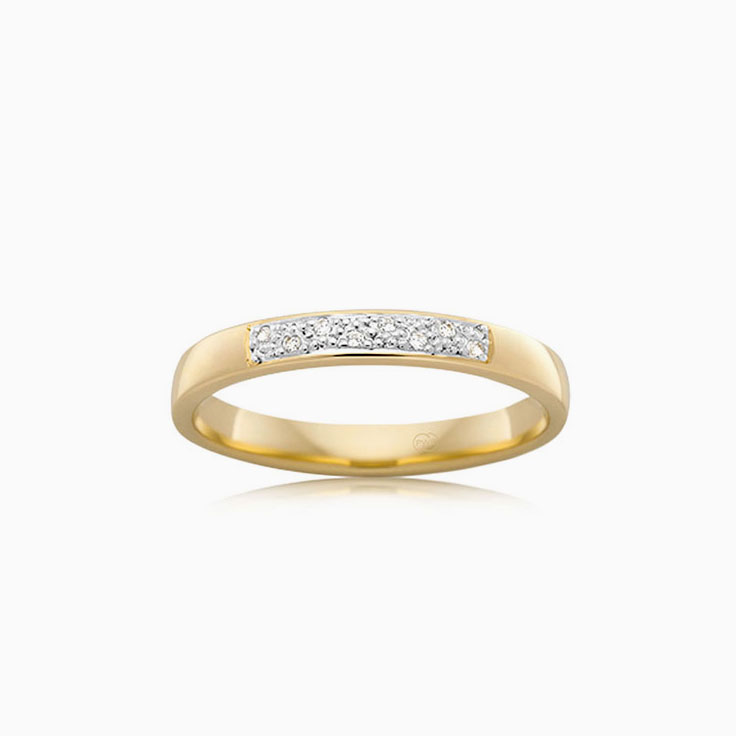 Pave set wedding ring B1557