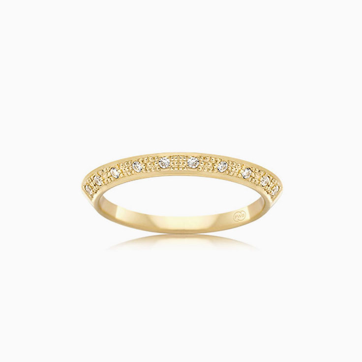 Knife edge wedding ring FC3743
