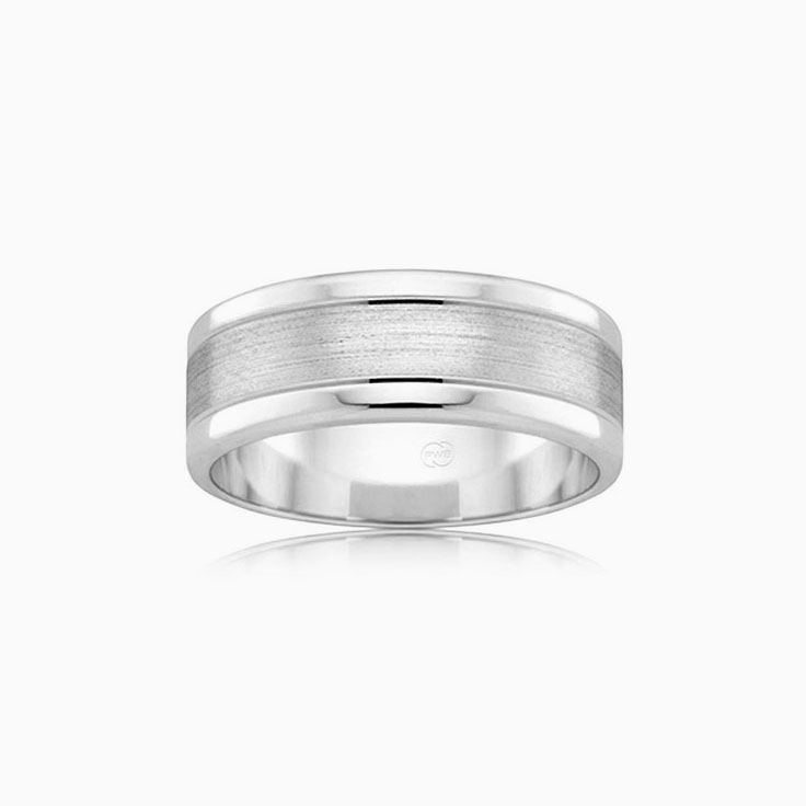 Centre Matt Wedding ring F2702
