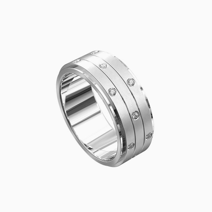 Diamond mens ring 7015