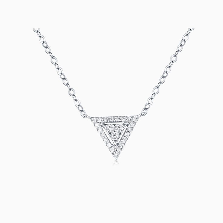 Triangle Diamond Necklace