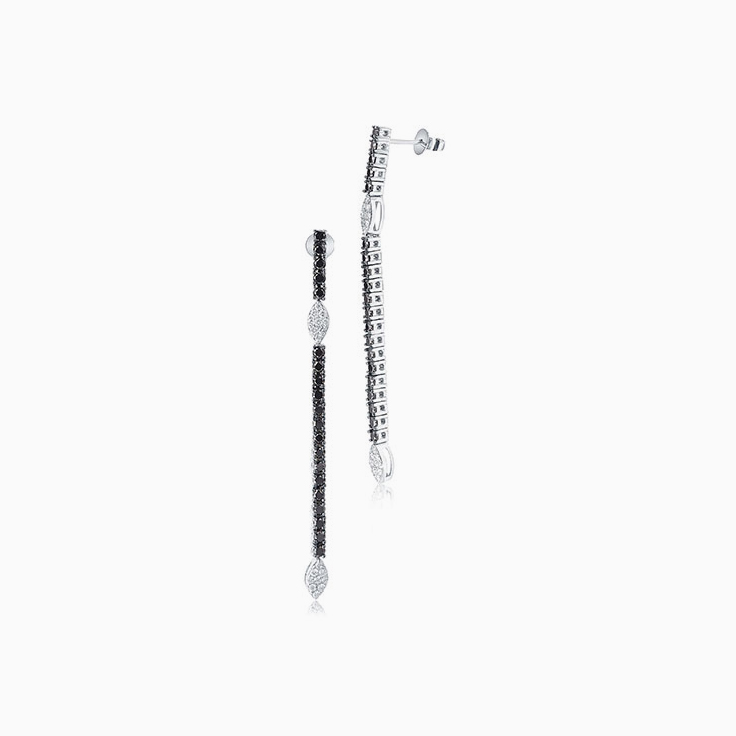 Black and White Diamond Earrings
