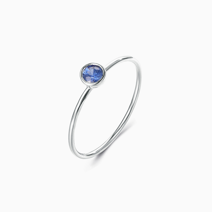 Blue Saphhire Stack Ring
