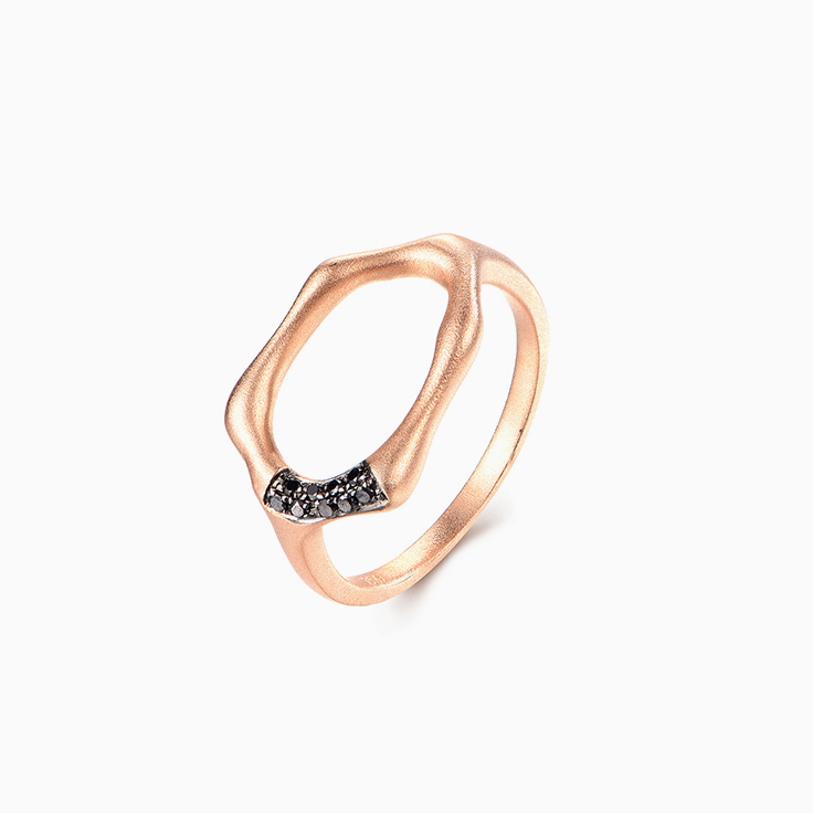 Rosegold with black diamonds