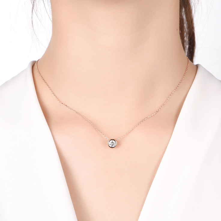 Solitaire Bezel Necklace