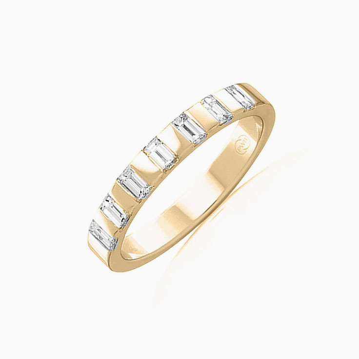 Baguette cut diamond wedder FR3941