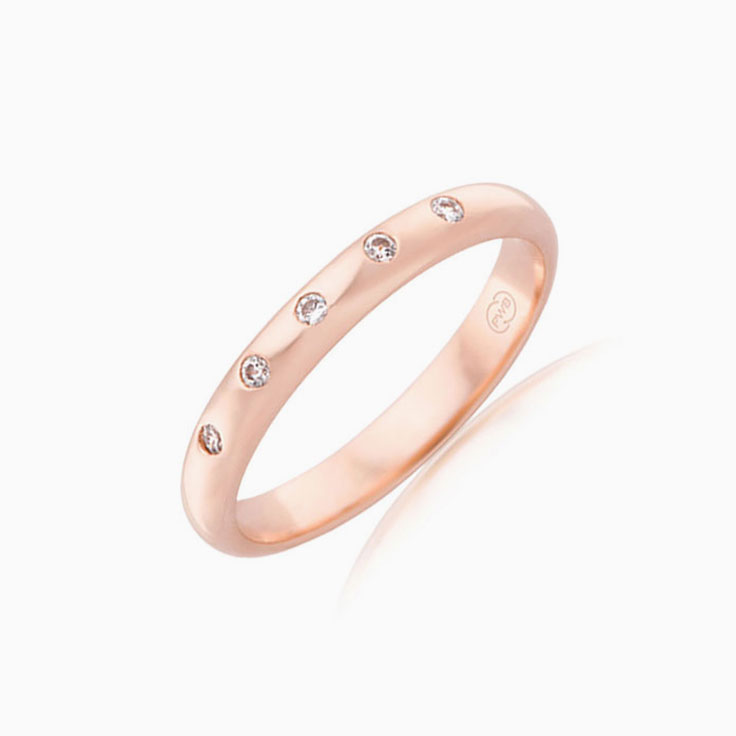Five stone drop set ring HD3213