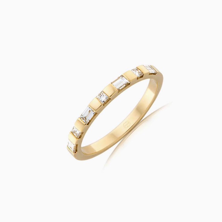 Baguette and Princess cut ring FR3923