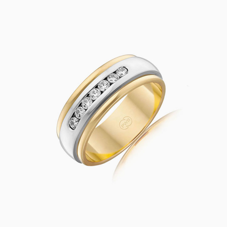 Channel set mens wedding ring 2TJ2326