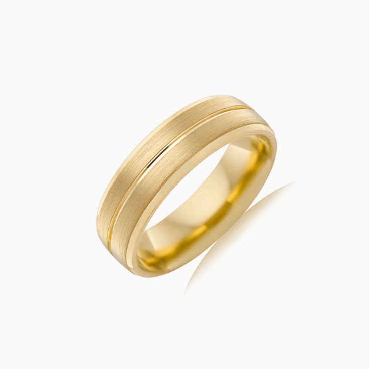 Grooved Mens Wedding ring B3936