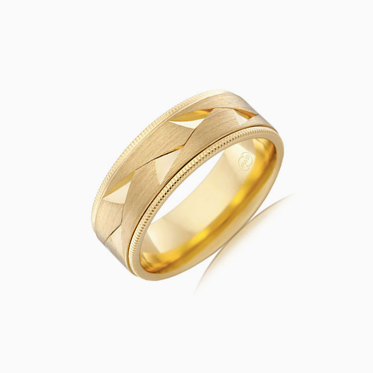 Miligrain edges mens ring J4149