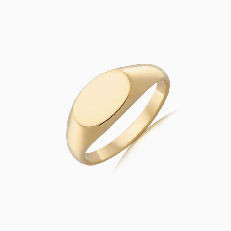 9k mens signet ring j1131
