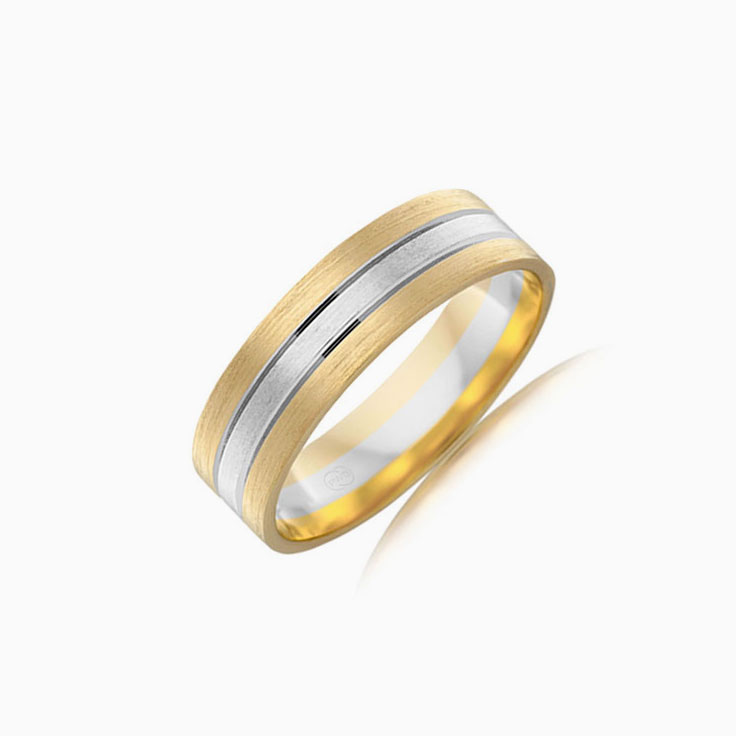 Double Grooved Wedding ring 2T2781