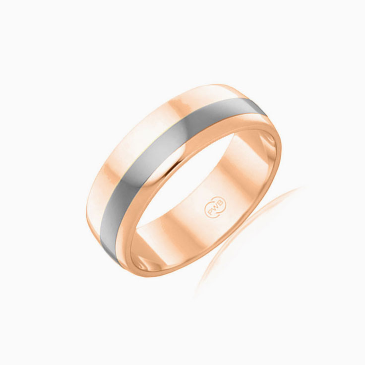 9K rosegold and white gold